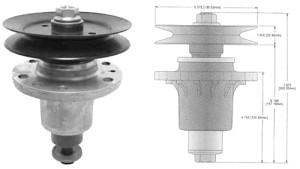 Exmark replacement spindles